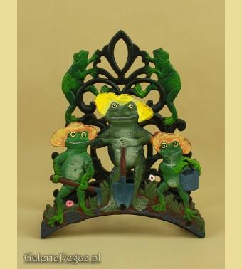 Wieszak z żabami
