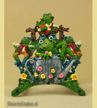 Wieszak z żabkami