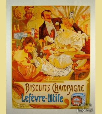 Herbatników Lefevre-Utile Alfons Mucha