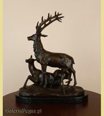 Rodzina jeleni z brązu