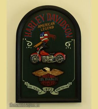 Szyld z logo Harley Davidson